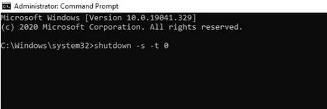 É possível alterar a quantidade de segundos para programar o desligamento do sistema.