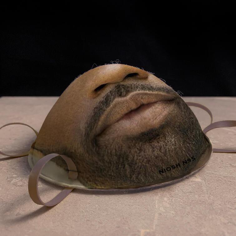Máscaras N95 que são feitas a partir do rosto das pessoas. (Fonte: Face Id Masks/Divulgação)