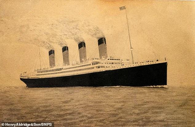 Pintura do Titanic, feita pelo próprio Lowe (Fonte: Daily Mail/Reprodução)