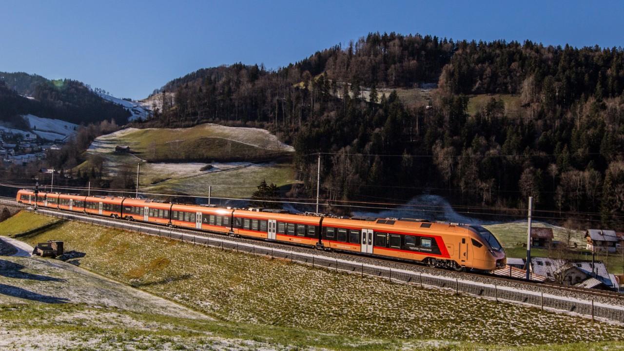 Voralpen-Express, trem que faz viagens a Saint Gallen. (Fonte: SBB)