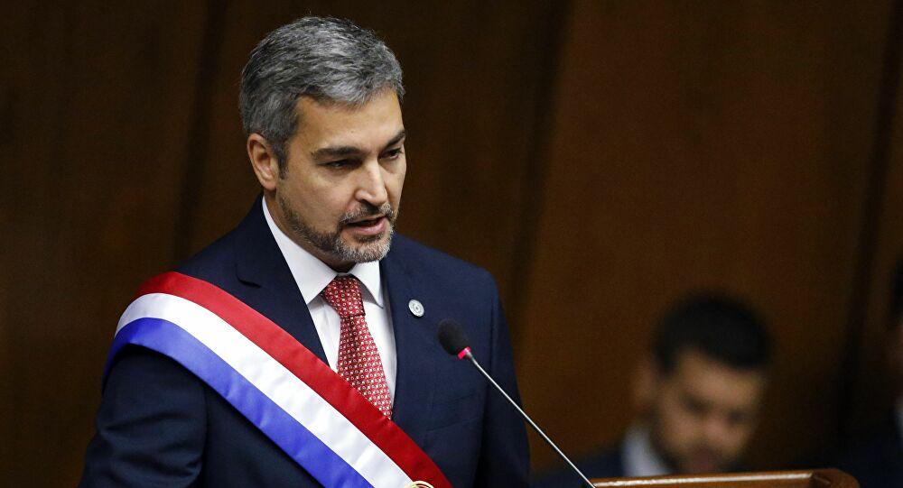 O presidente do Paraguai, Mario Abdo Benítez. (Fonte: AP Photo/Jorge Saenz)