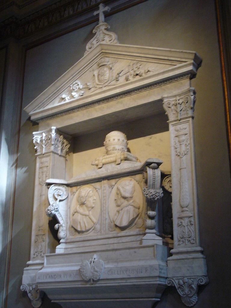 Túmulo dos papas Calisto III e Alexandre VI em Roma (Fonte: Wikimedia Commons)