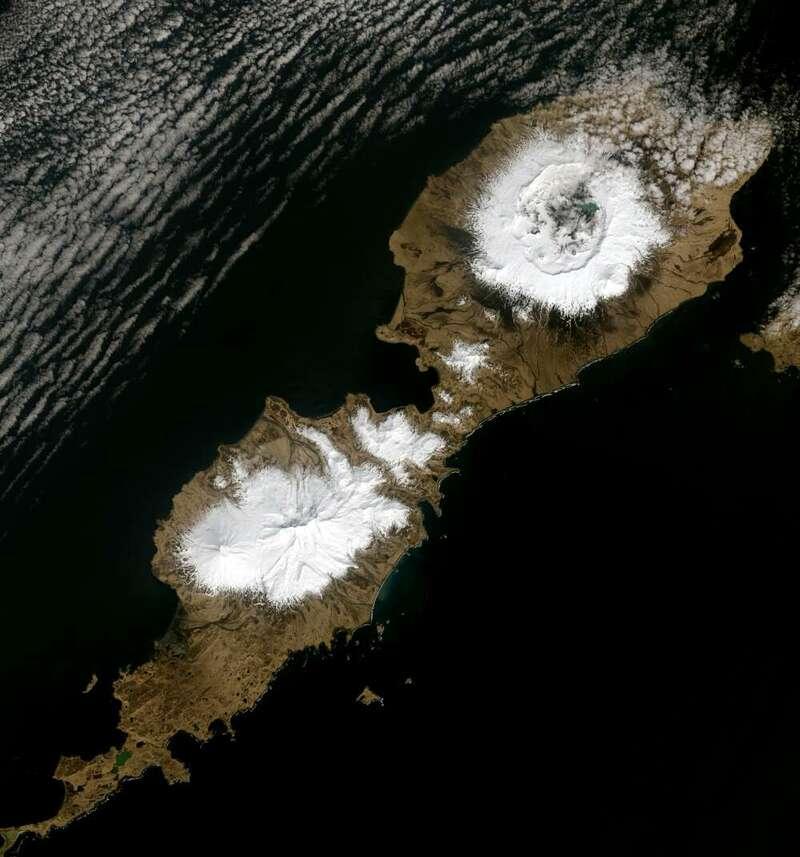 A caldeira de 10 quilômetros de largura criada, principalmente, pela erupção do vulcão, no Alaska. (Fonte: IFL Science)
