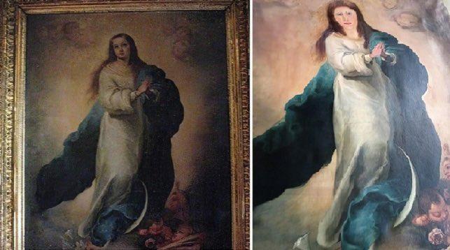 Veja a imagem completa da obra, antes e depois (Fonte: Twitter/Reprodução)