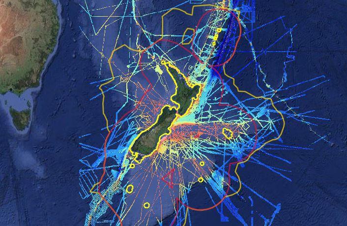 O mapa com dados de geociência. (Fonte: Reprodução / GNS Science)