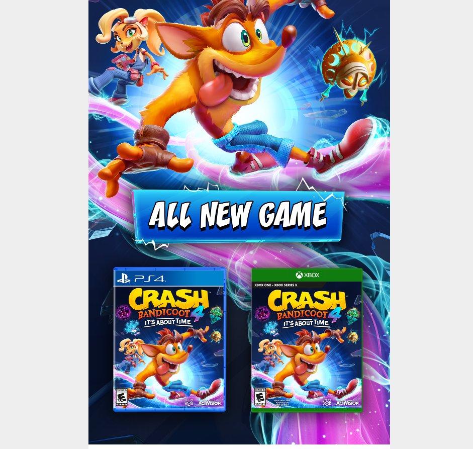 Crash Bandicoot 4 terá mais de 100 telas jogáveis, sugere varejista