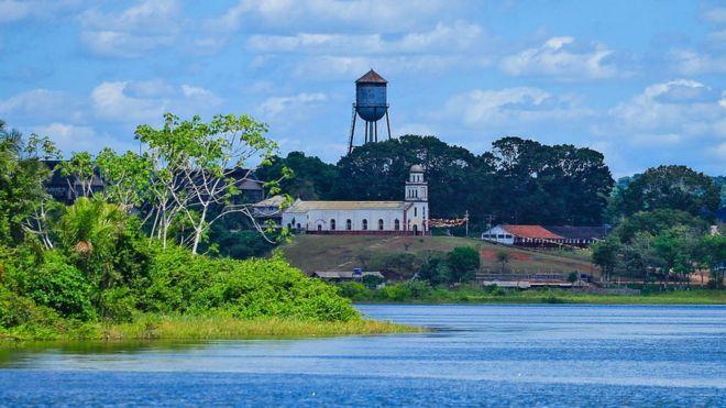 Fordlândia, vista do Rio Tapajós (Fonte: BBC/Reprodução)
