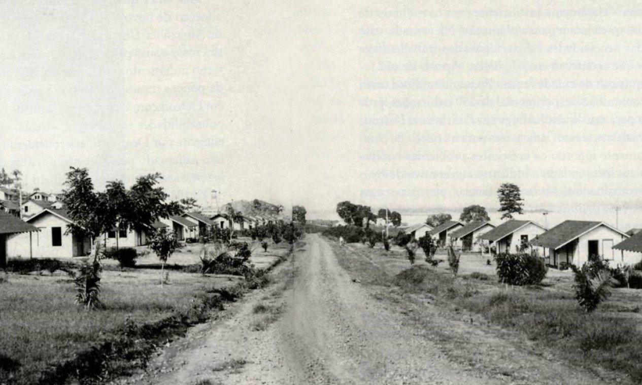 As casas de Fordlândia (Fonte: O Globo/Reprodução)
