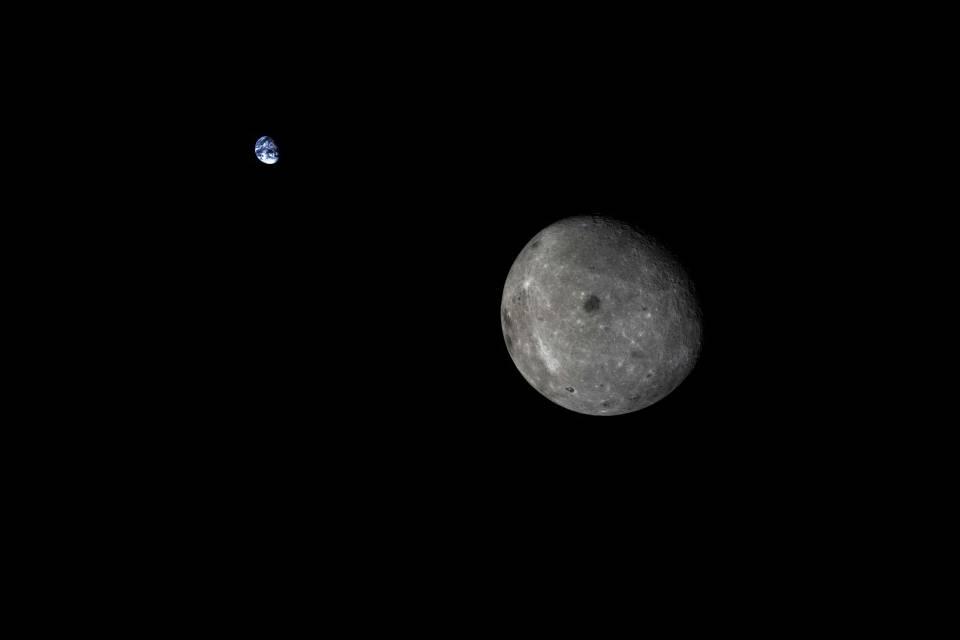 Satélite chinês captura imagens impressionantes de eclipse lunar