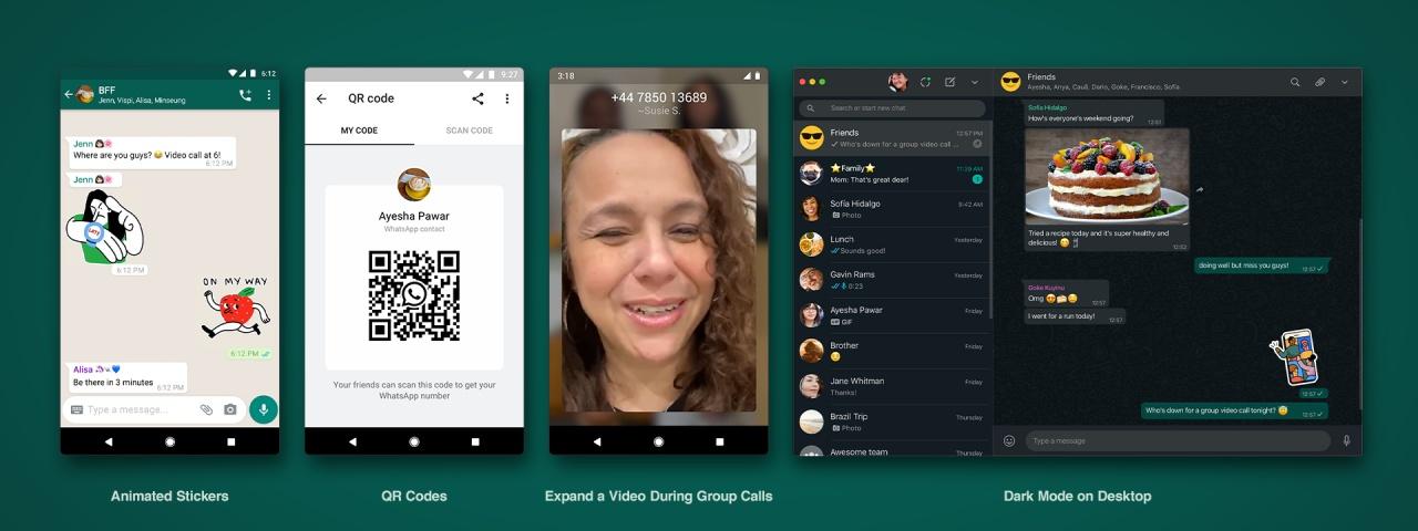 Imagem de: WhatsApp lança figurinhas animadas, QR Code e outras novidades