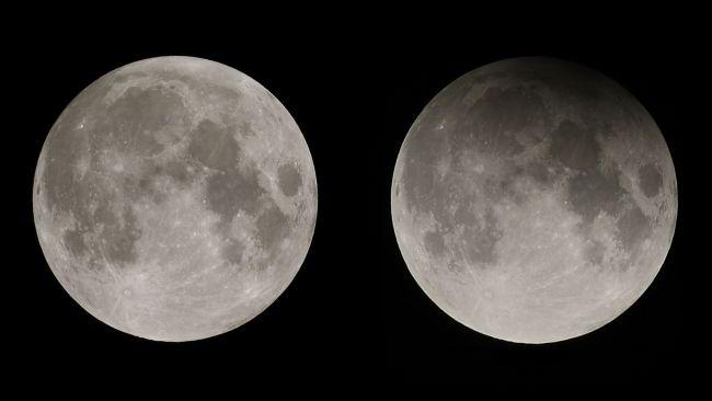 Eclipse lunar penumbral, em 05 de julho