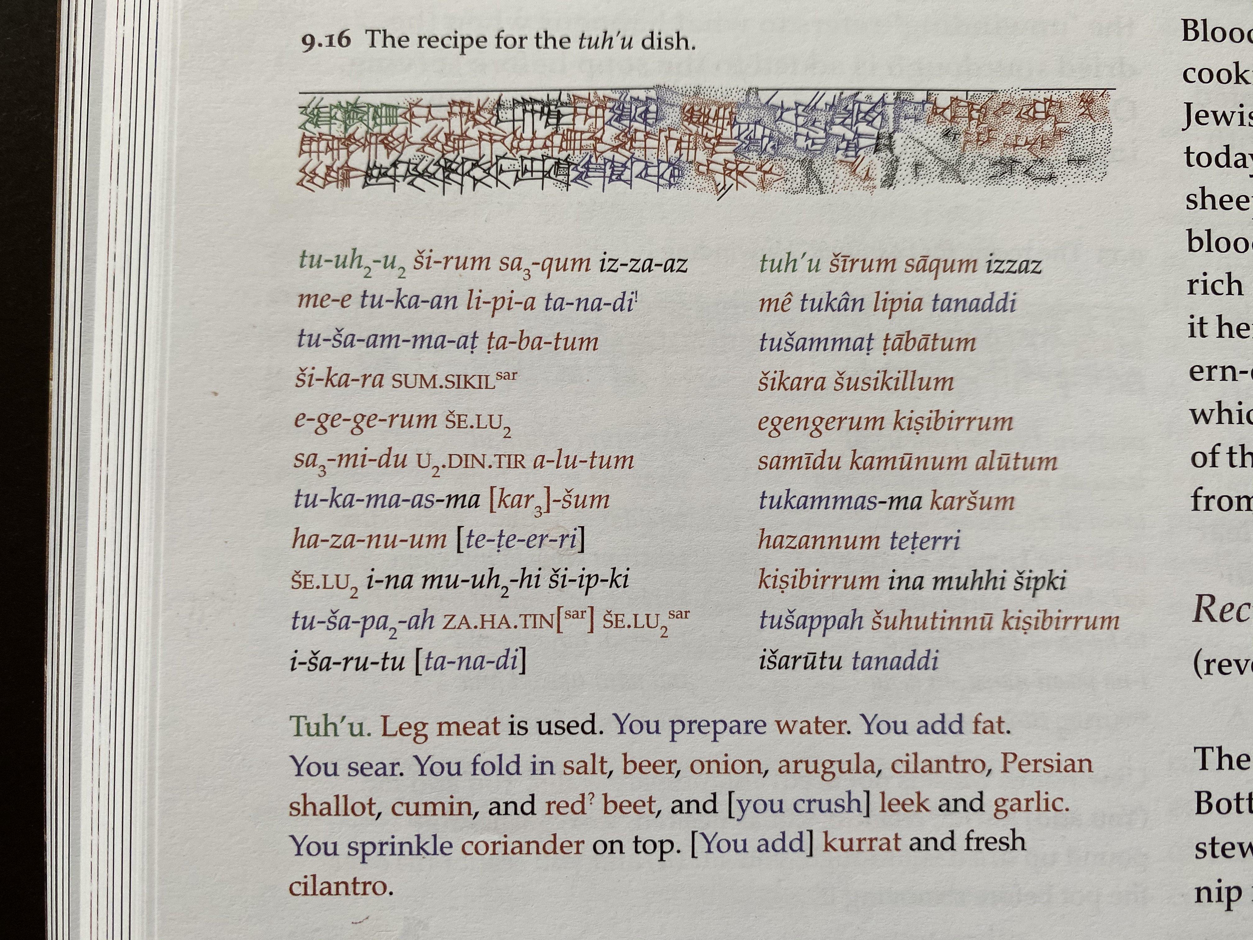 As instruções da receita de Tuh'u (Fonte: Twitter/Reprodução)