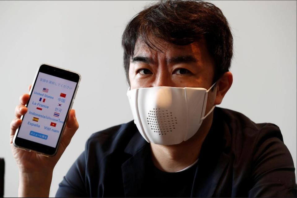 Startup japonesa cria máscara que traduz a fala do usuário