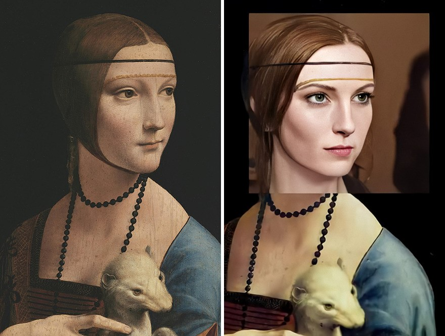 Dama com Arminho, de Leonardo da Vinci foi produzida entre 1489 e 1490. (DenisShiryaev/Reprodução)