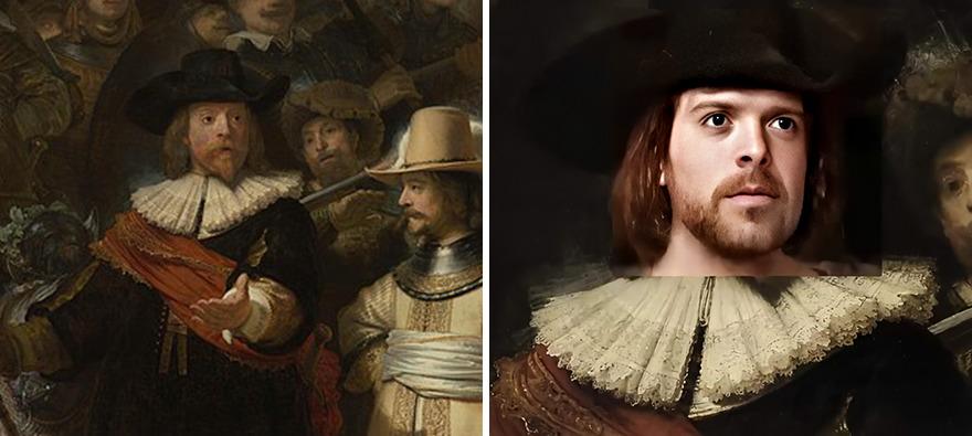 A Ronda Noturna, de Rembrandt van Rijn data do século XVII. (DenisShiryaev/Reprodução)