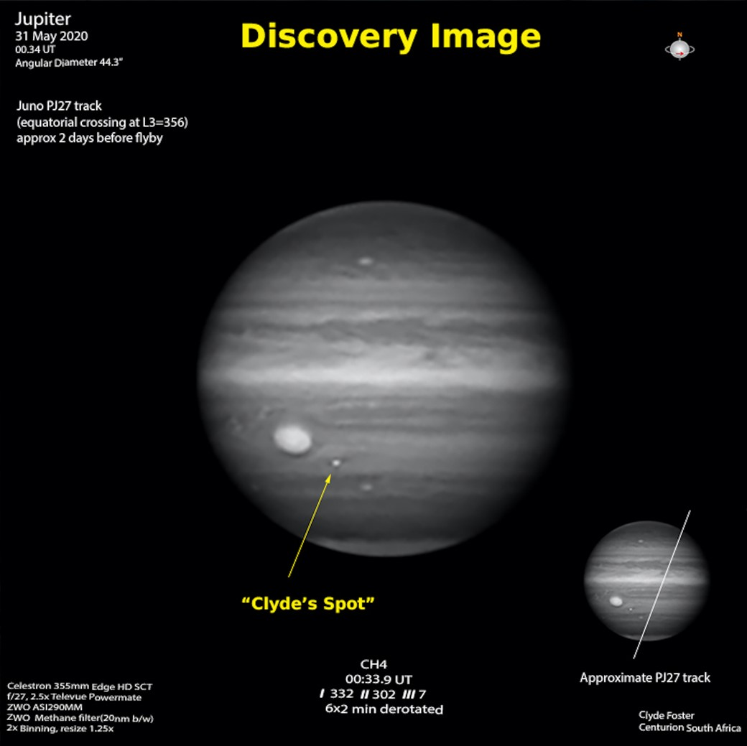 """Mancha está em região """"agitada"""" de Júpiter (Fonte: NASA/Reprodução)"""