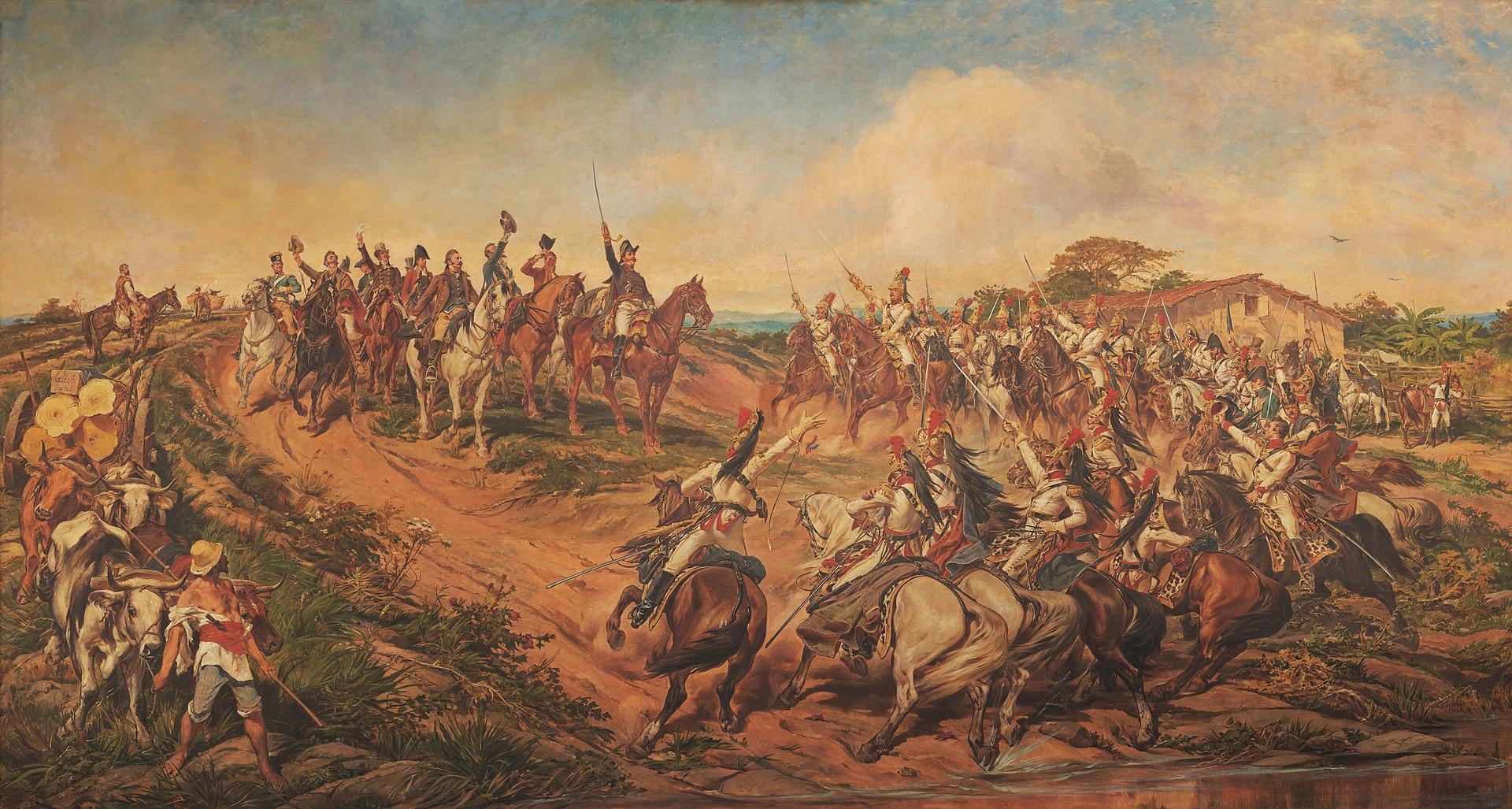 """""""Independência ou Morte"""", de Pedro Américo (Fonte: Wikimedia Commons)"""