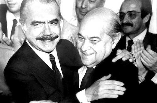 Tancredo Neves e José Sarney (Fonte: Wikimedia Commons)