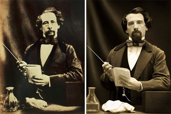 Charles Dickens (1858) e Gerald Charles Dickens