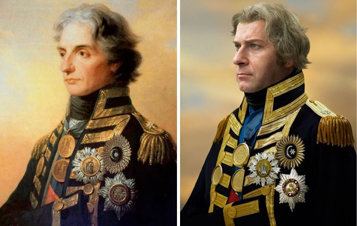 Almirante Horatio Nelson (1800) e William John Raglan Horatio Tribe