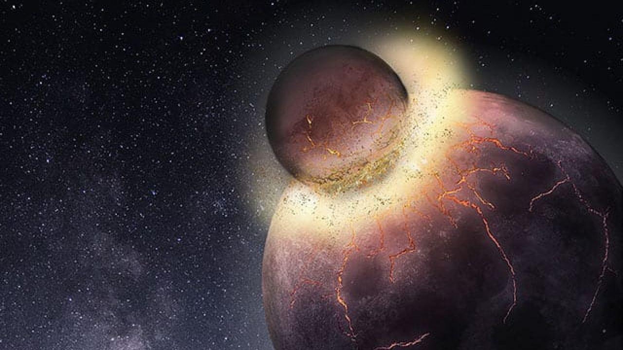 Impacto massivo entre corpos celestes deu origem à Terra e à Lua.