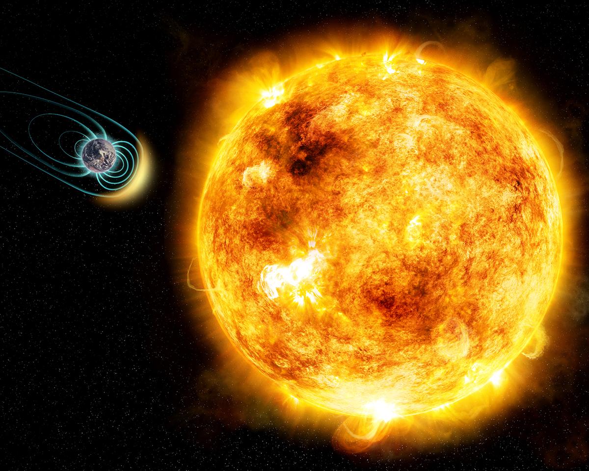 Simulação de superflare em estrela semelhante so Sol (Fonte: M. Weiss, Harvard-Smithsonian Center for Astrophysics/Reprodução)