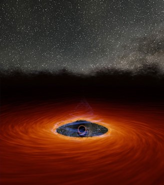 The debris from the captured star dispersed some of the gas, causing the black hole's corona to disappear.