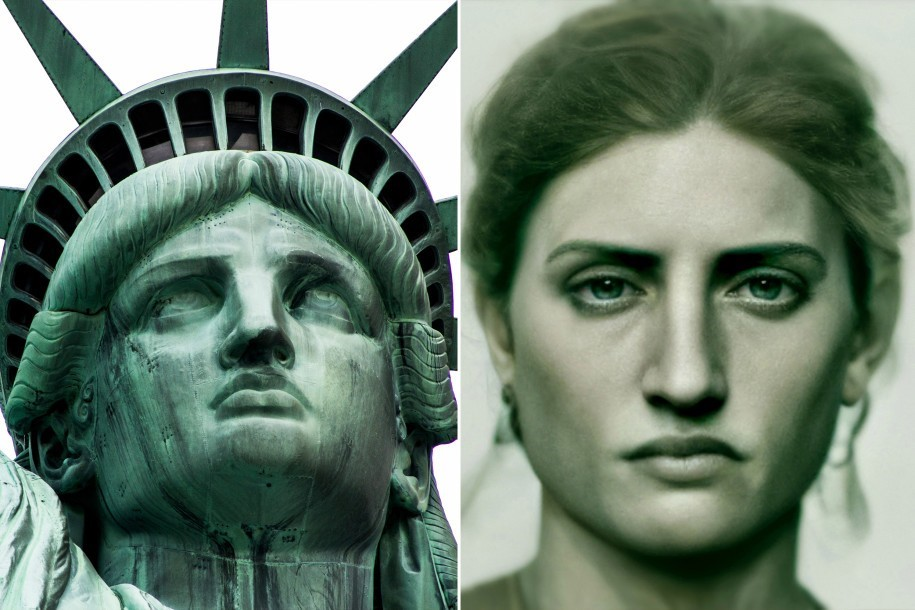 "Lady Liberty, a ""moça"" da Estátua da Liberdade"