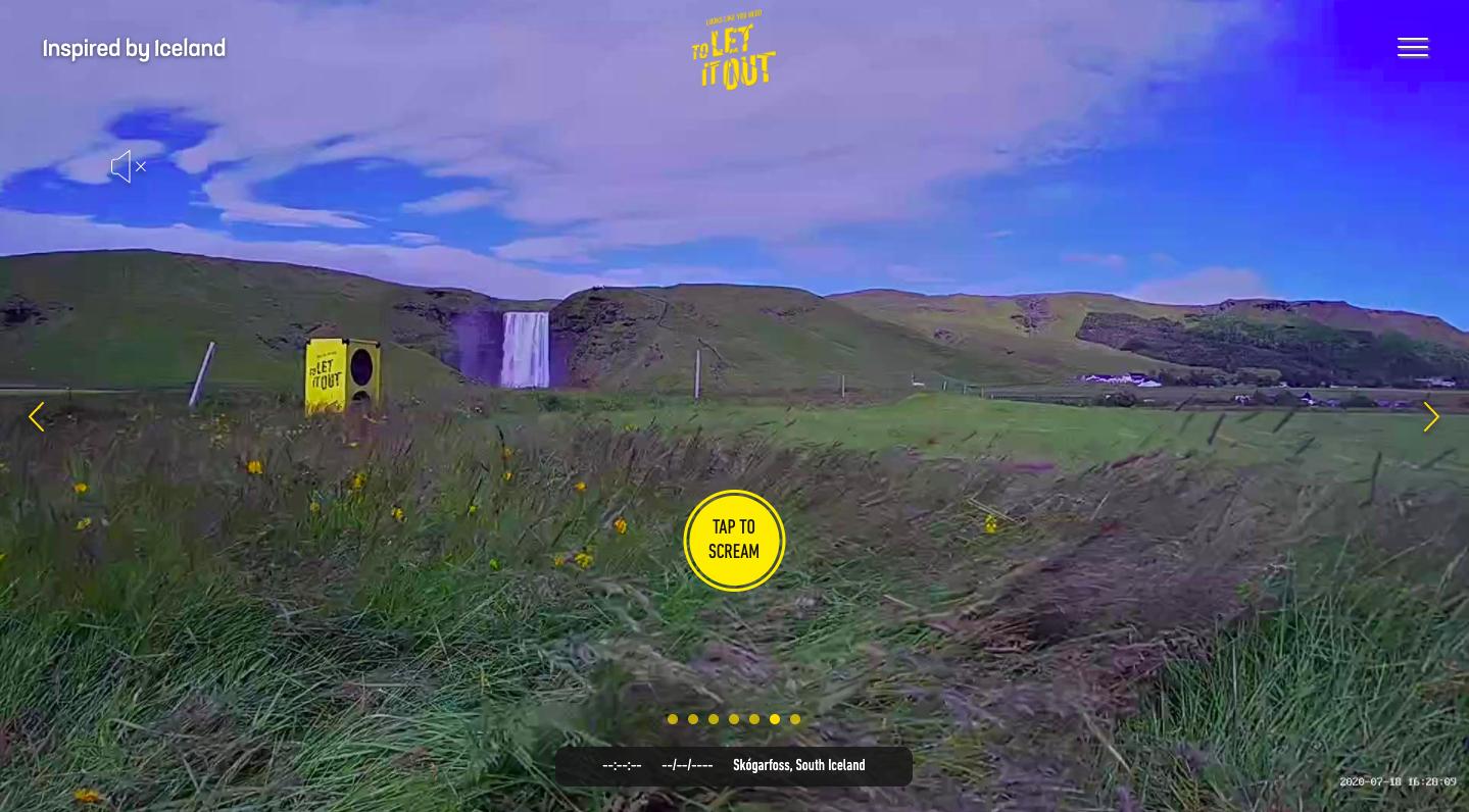 É só clicar no botão e soltar o grito! (Fonte: Looks Like You Need Iceland/Reprodução)