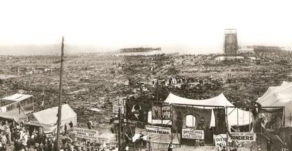 O parque de diversões Dreamland, após o incêndio (Fonte: NY Post/Reprodução)