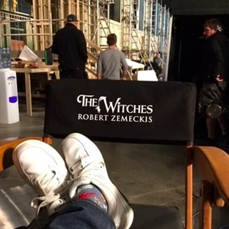 Robert Zemeckis backstage at 'Witches' Convention