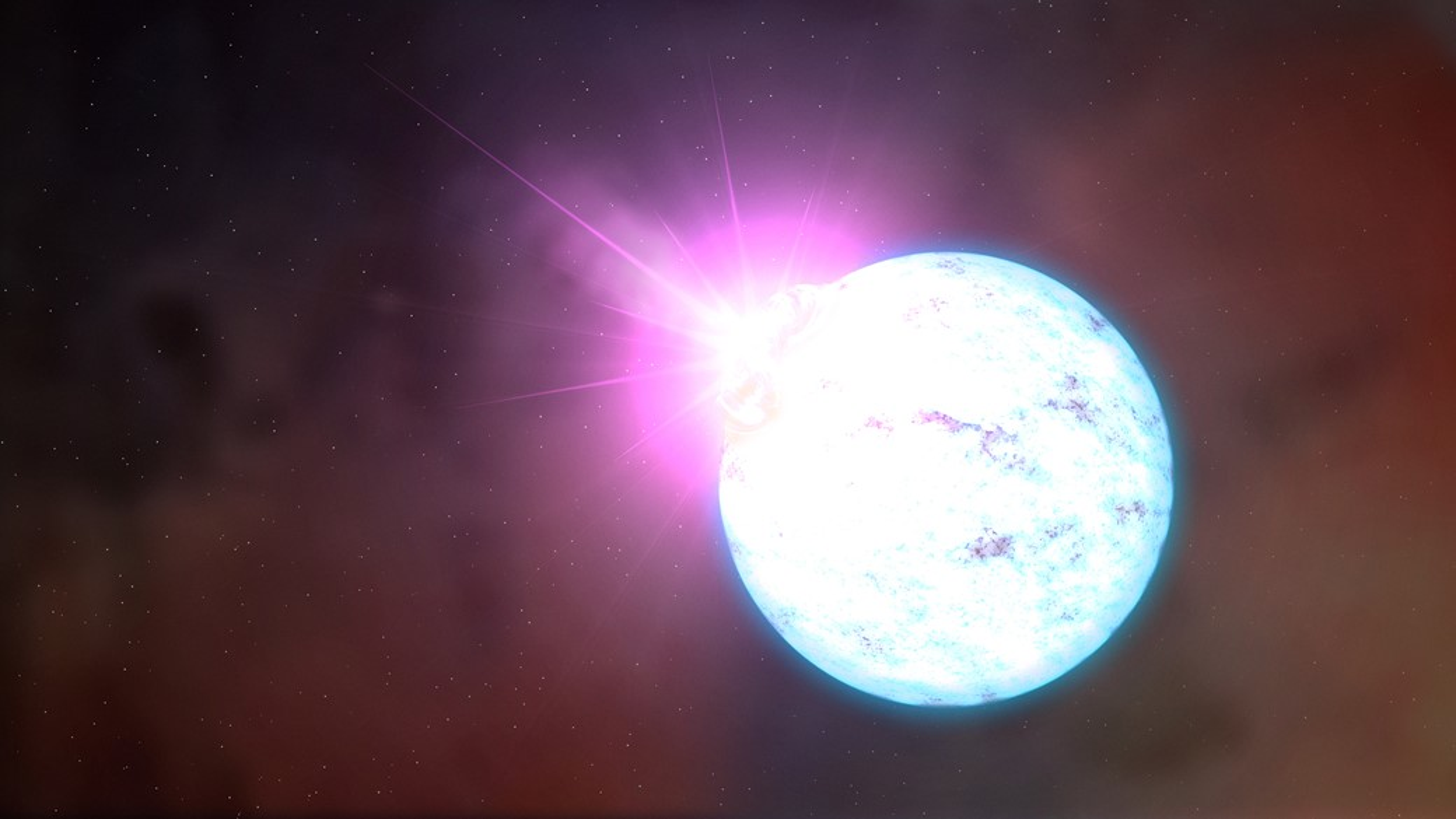 Brilho de explosão chega a ser bilhões de vezes mais forte que o do Sol.