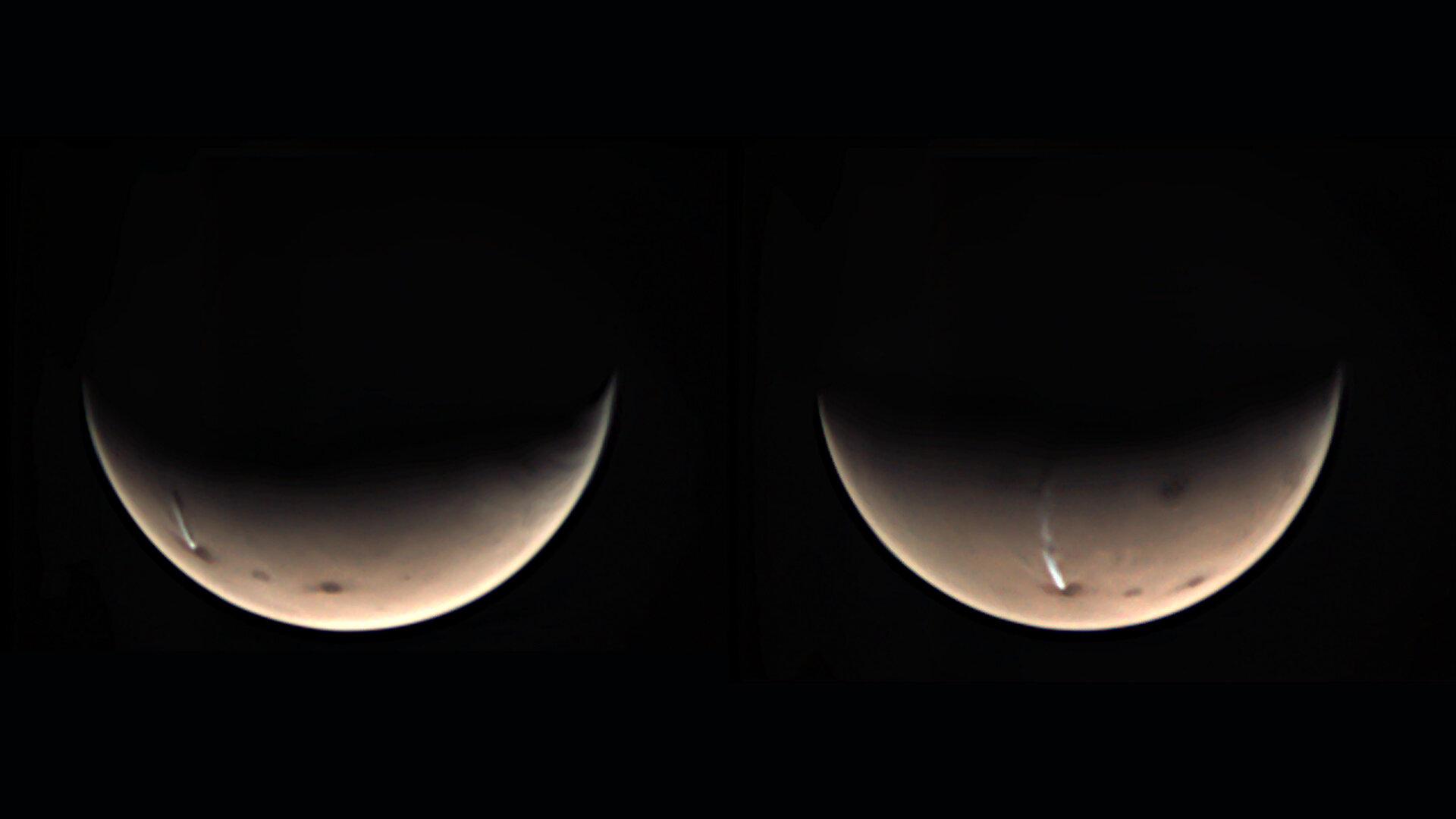 Nuvem se forma todos os anos sobre vulcão marciano.
