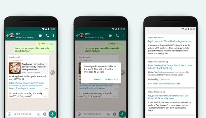 Novo recurso do WhatsApp ajuda a verificar se algo é Fake News