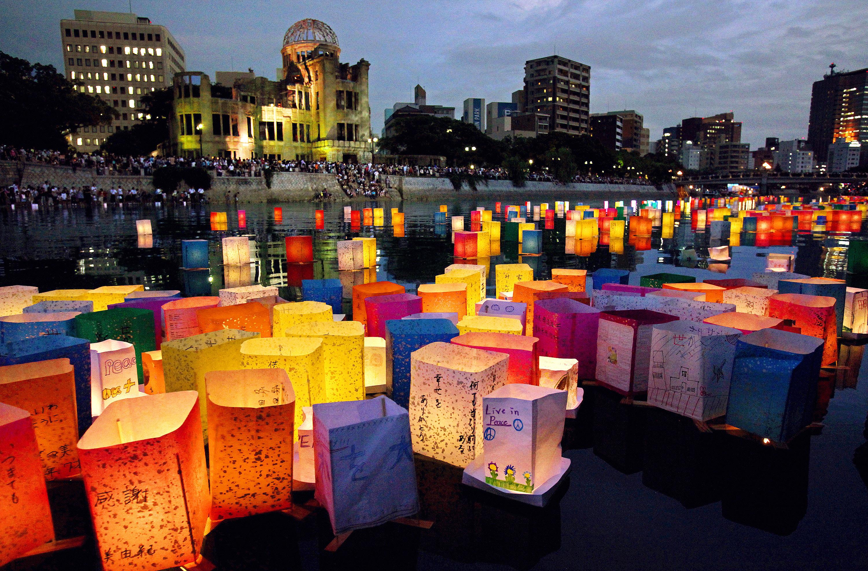 Celebração do 74º aniversário do bombardeio (Fonte: Asahi Shimbun/Getty Images - Reprodução)