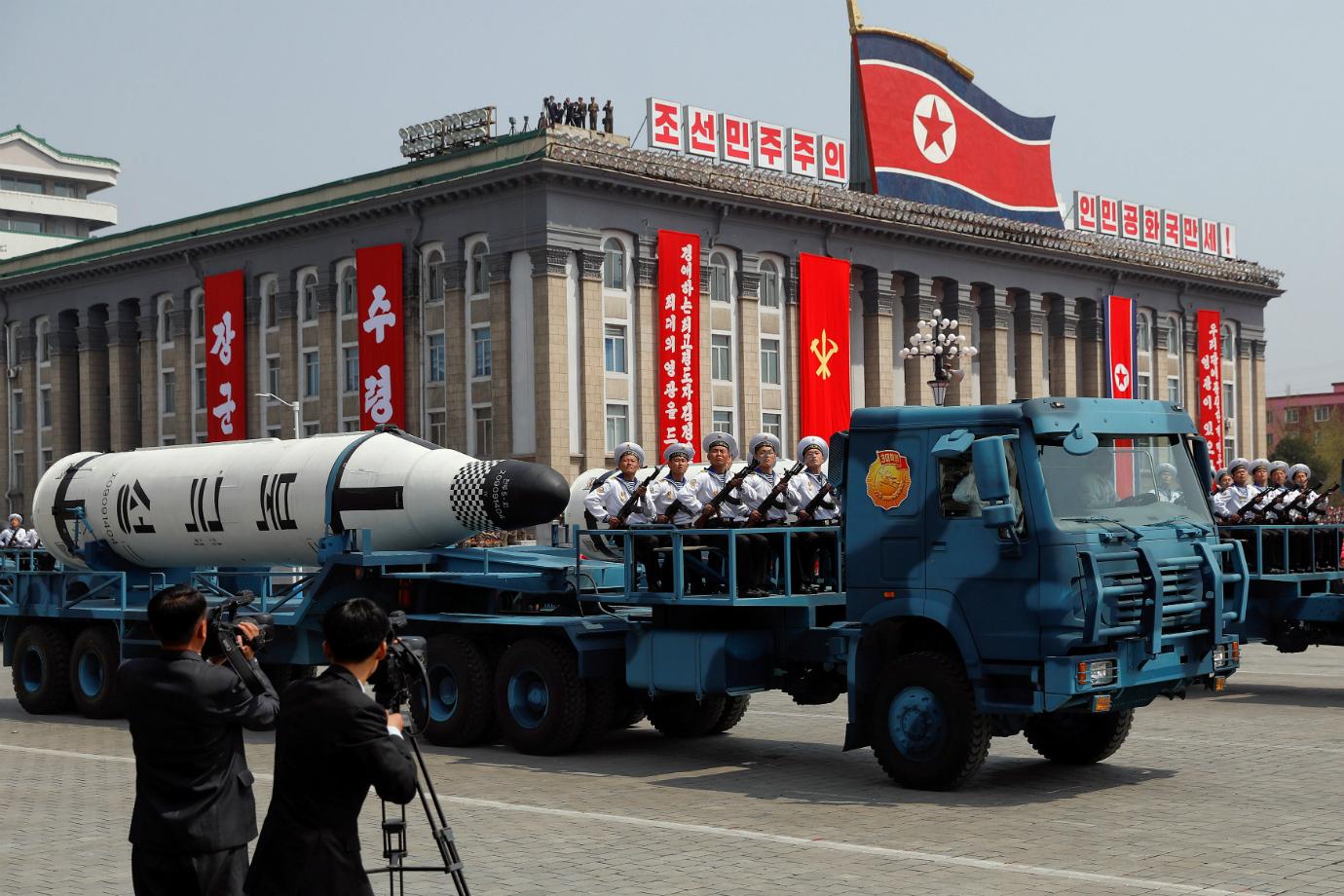 Desfile militar na Coreia do Norte (Fonte: Damir Sagolj/Reuters - Reprodução)