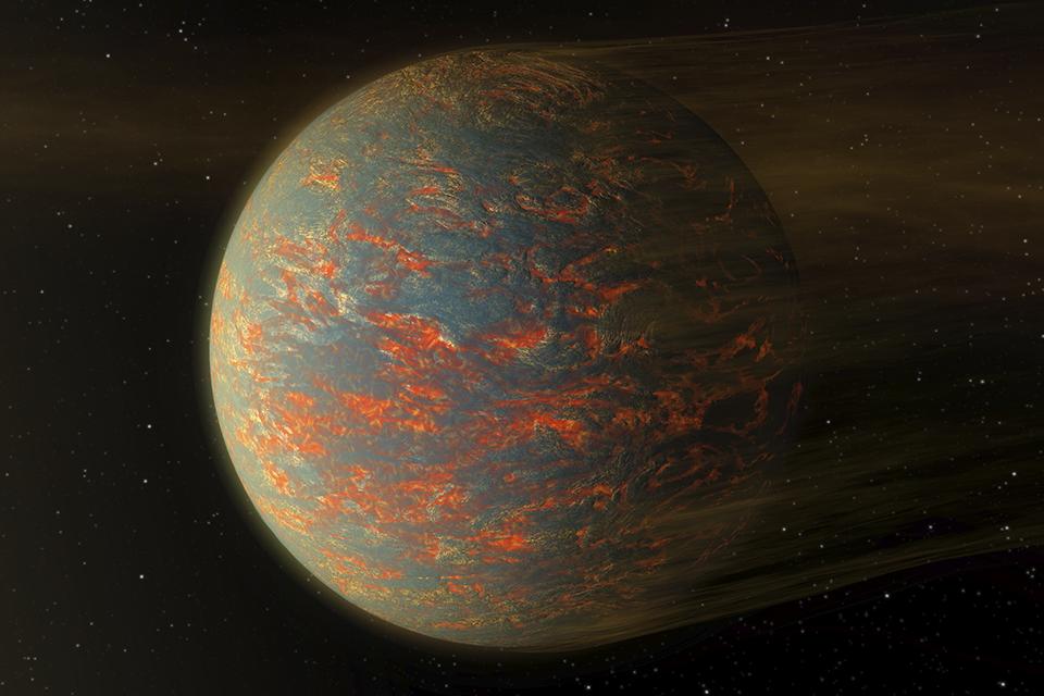 Atmosfera metálica pode explicar o brilho de Super Terras