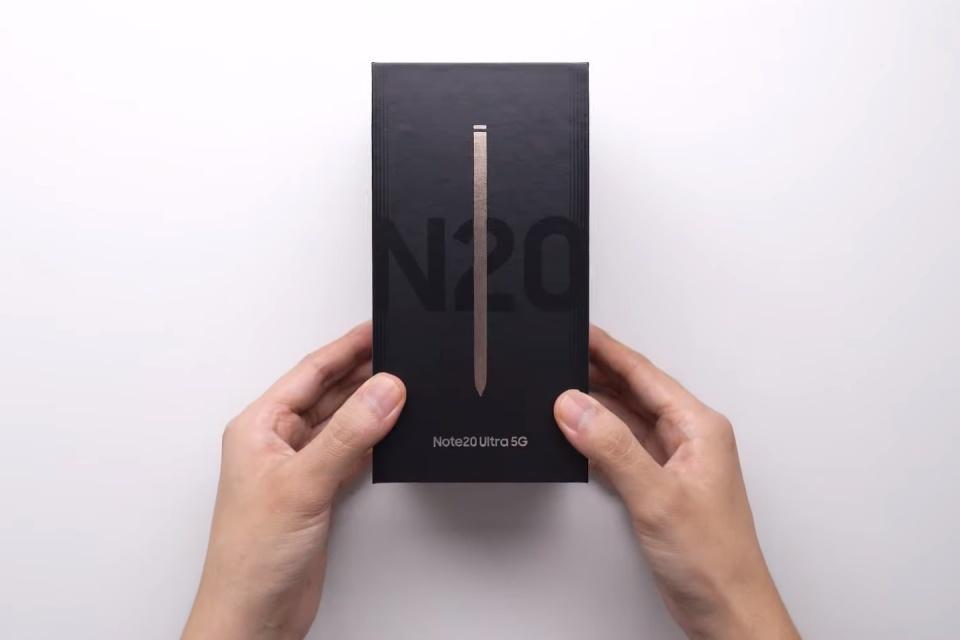 Samsung faz unboxing oficial do Galaxy Note20 Ultra [Vídeo]