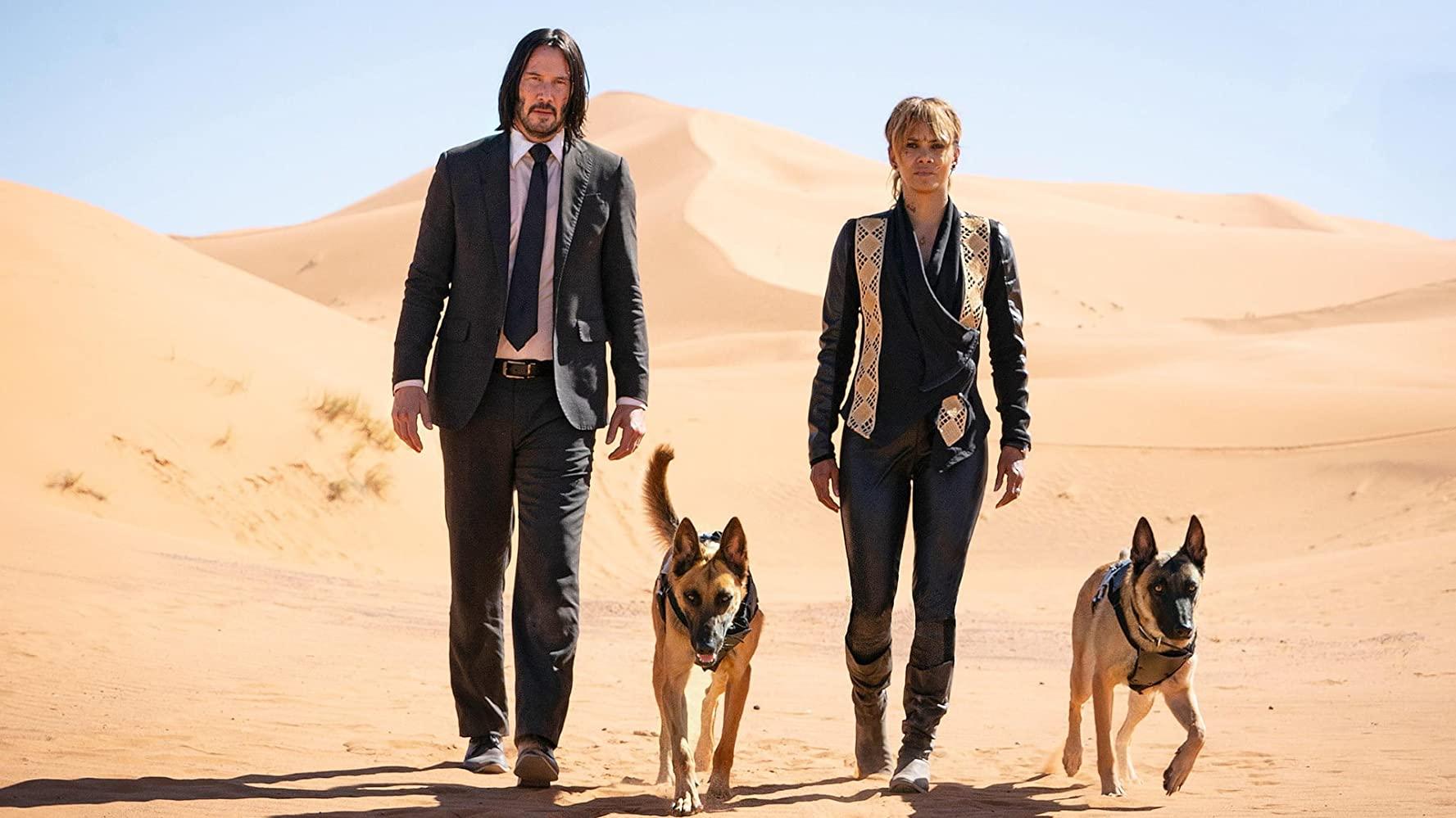 Keanu Reeves e Halle Berry em 'John Wick 3 - Parabellum'