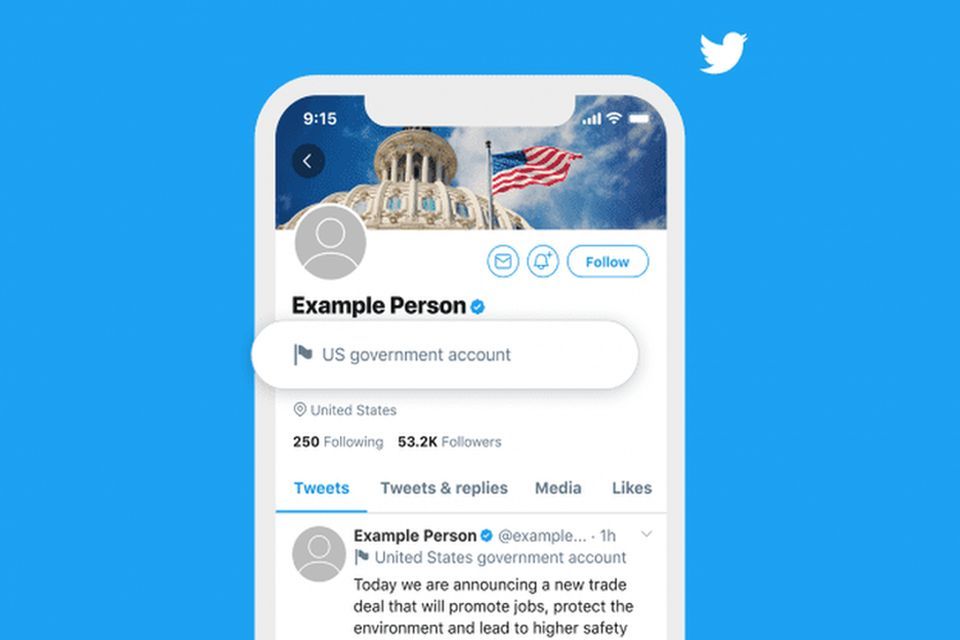 Twitter vai rotular perfis governamentais e de mídias estatais
