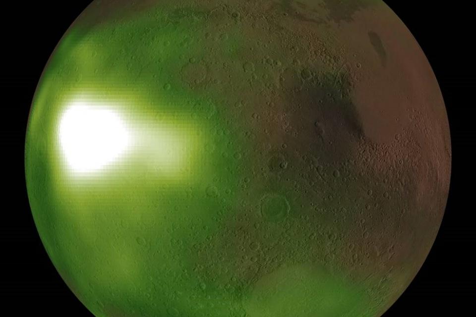 NASA divulga imagens do pulsante brilho do céu noturno de Marte