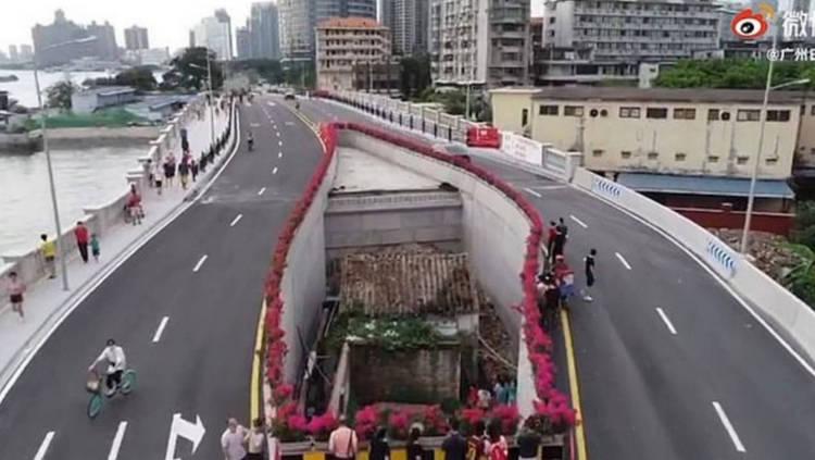Estrada foi construída ao redor da propriedade (Fonte: Oddity Central/Reprodução)