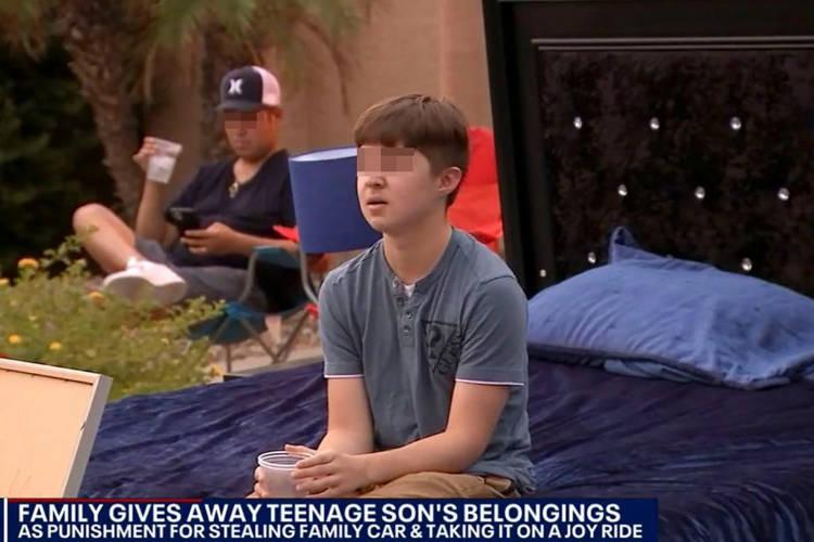 O adolescente precisou pessoalmente se desfazer dos seus pertences. (Fonte: Reprodução / Fox 10)