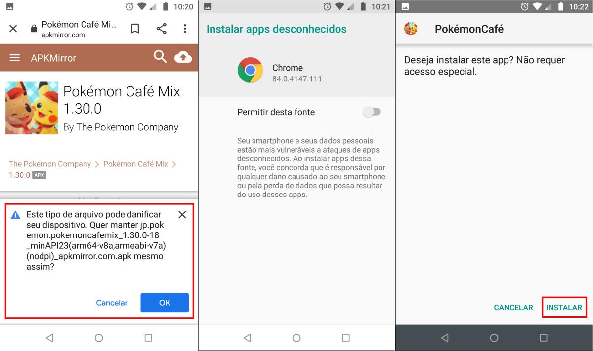 O Android sempre notifica o usuário sobre download de fontes desconhecidas.