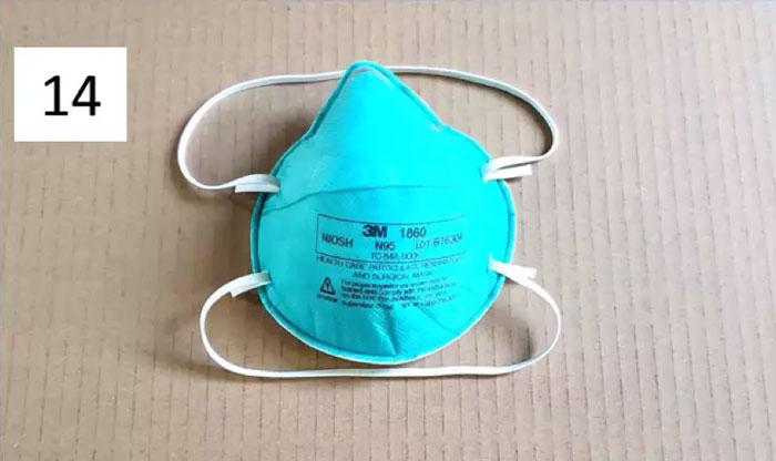 Modelo N-95, utilizado por profissionais de saúde (Fonte: Universidade de Duke)
