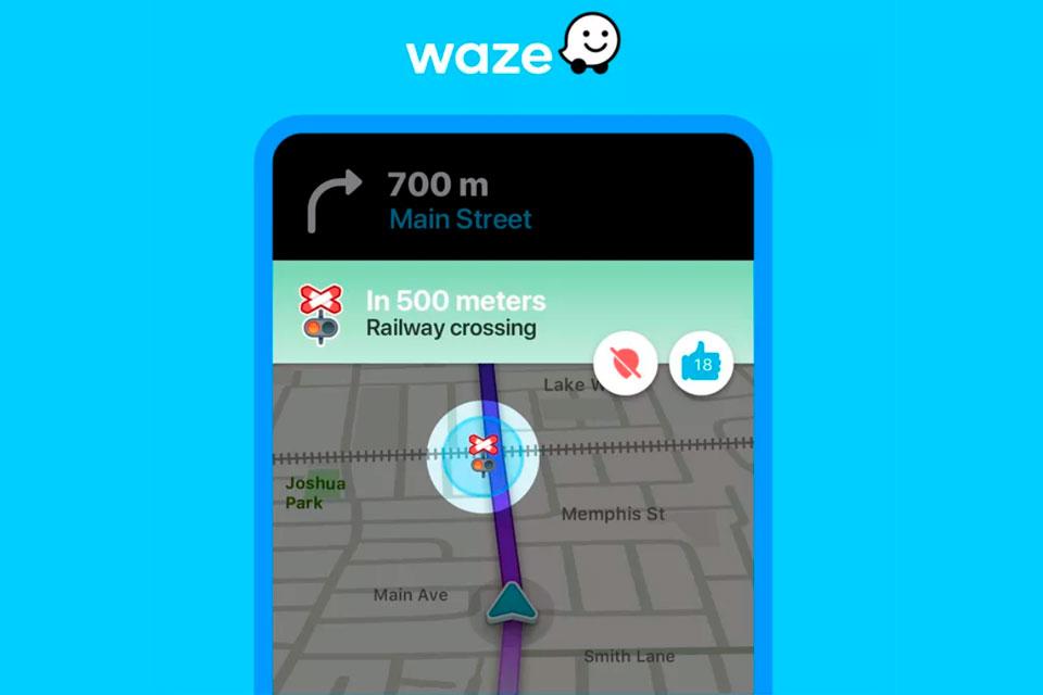 Waze é atualizado com alertas de cruzamento de ferrovias