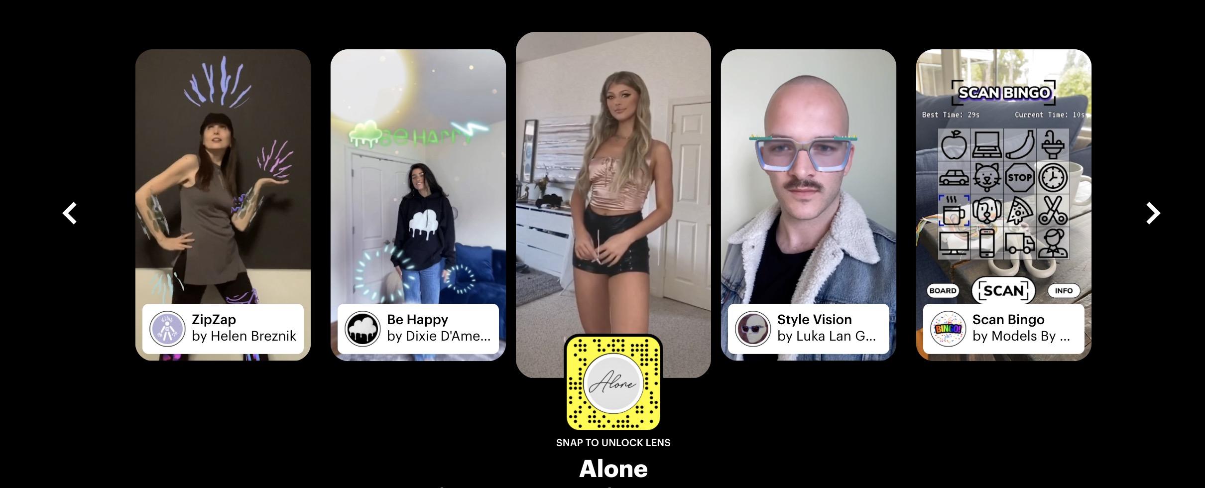 Snapchat lança filtros especiais para serem usados no TikTok