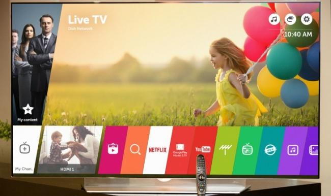 A TV utiliza o sistema webOS 4.5.