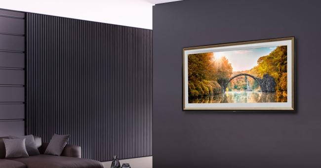 No modo galeria, a sua smart TV funciona como uma obra de arte na parede.
