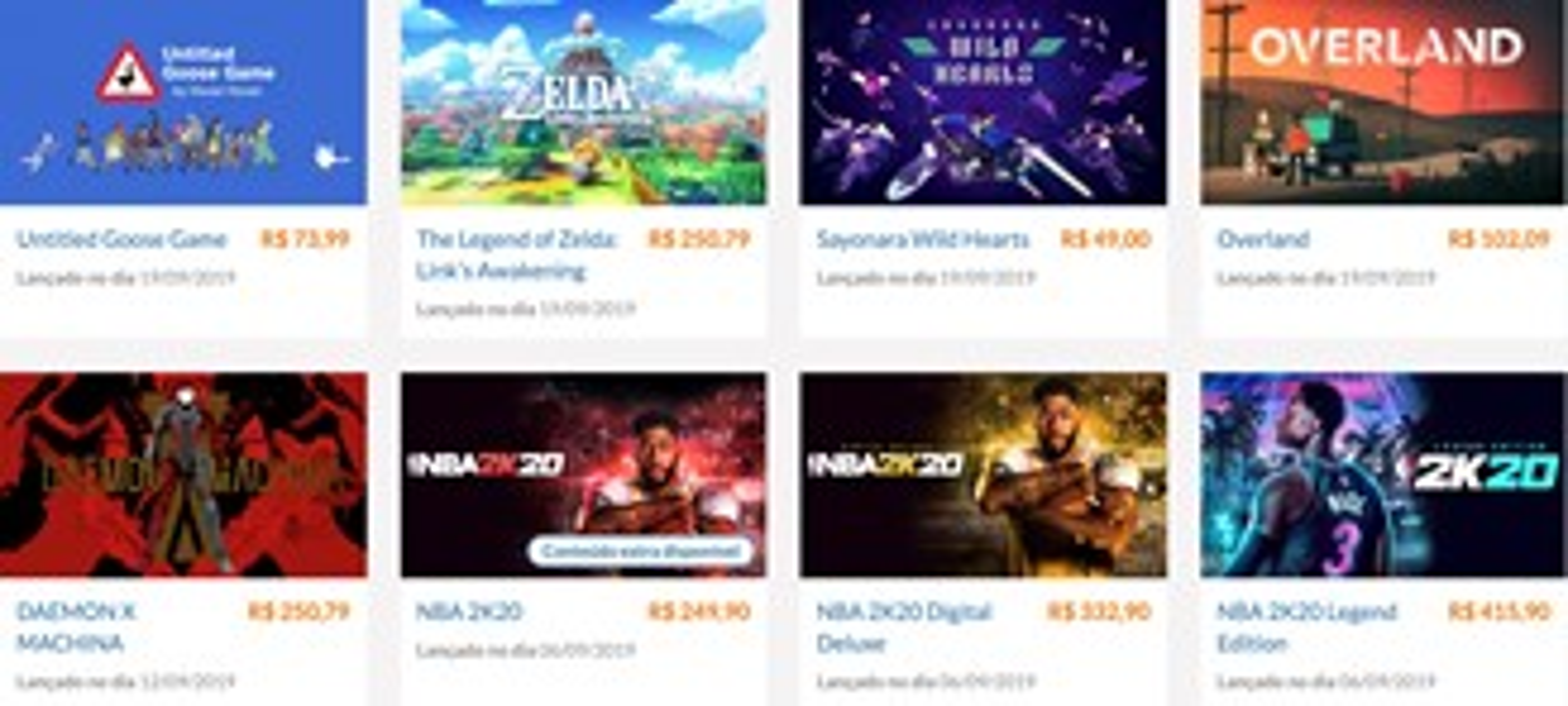 Nintendo games online store in Brazil.